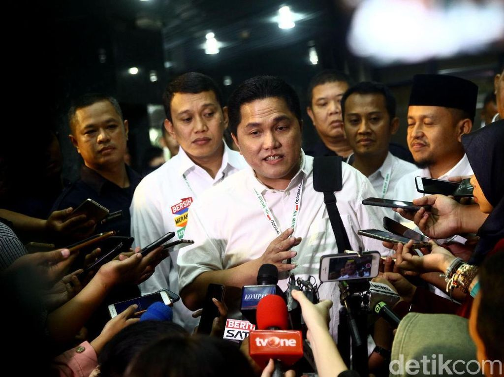 Soal Posisi Ical di Timses Jokowi-Maruf, Ini Kata Erick Thohir