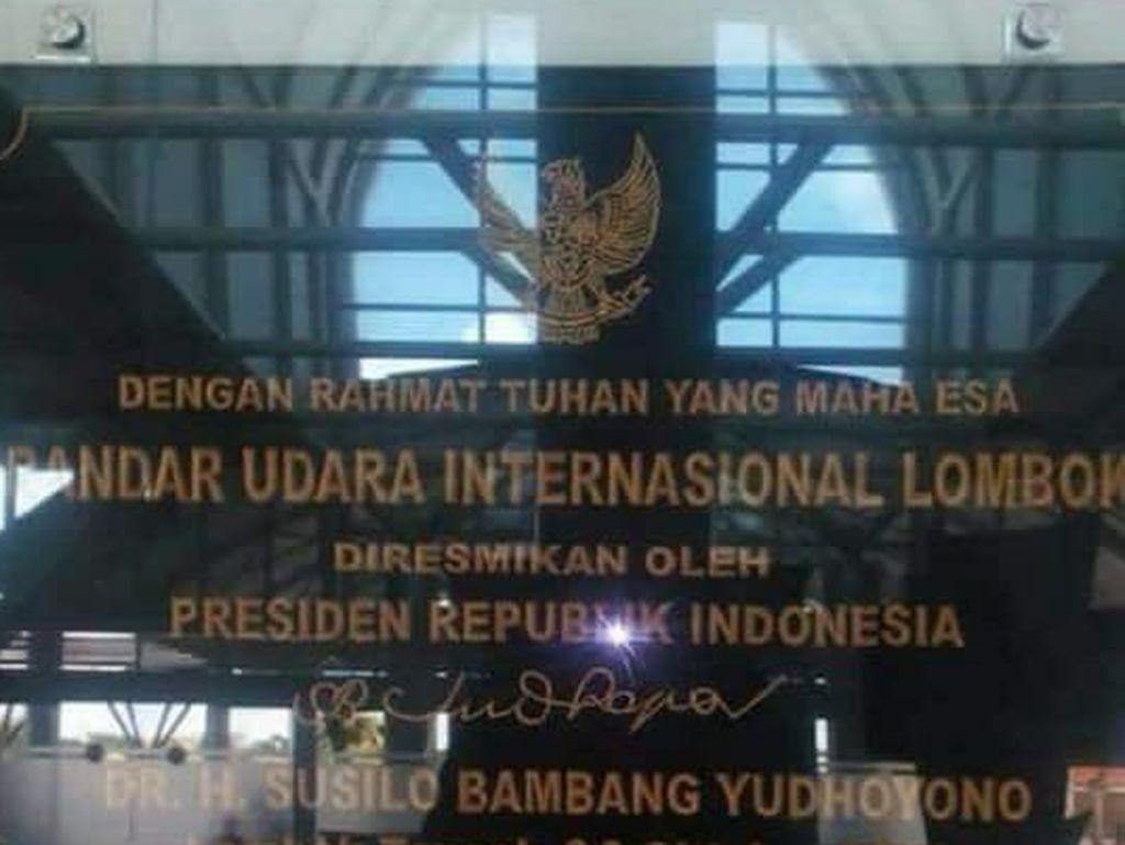 PD: Info Pencopotan Prasasti SBY di Bandara Lombok dari Veteran NTB