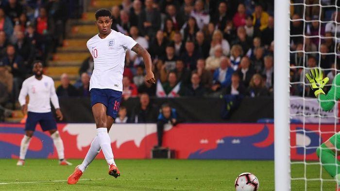 Marcus Rashford mencetak dua gol untuk Inggris di dua penampilan terakhir. (Foto: Laurence Griffiths/Getty Images)