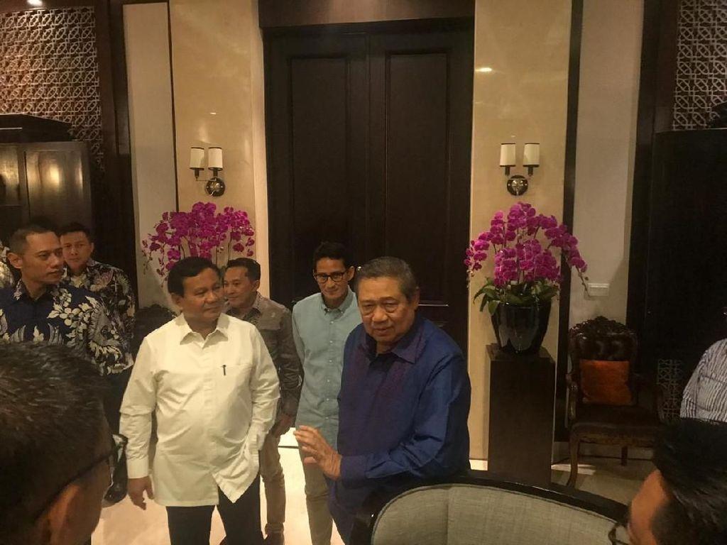 Bertemu SBY, Prabowo-Sandiaga Diberi Wejangan untuk Debat Perdana