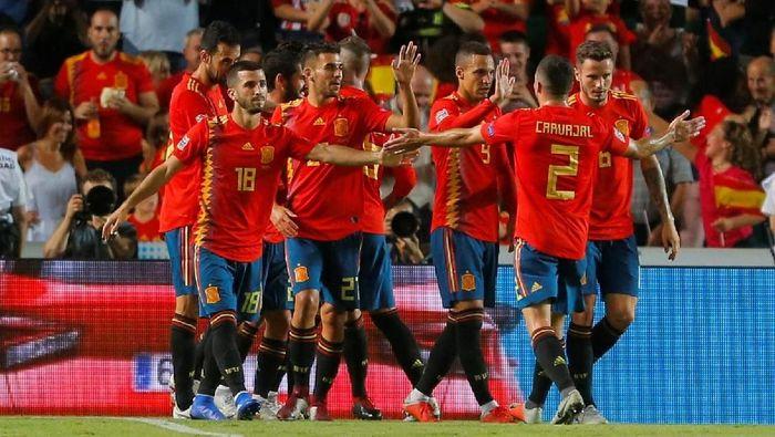 Spanyol bisa dipastikan lolos ke semifinal UEFA Nations League jika menang atas Inggris (Foto: Heino Kalis/Reuters)