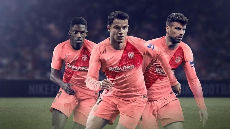 Berwarna Pink, Ini Dia Jersey Ketiga Barcelona Musim 2018/2019