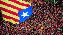 1 Juta Orang Berdemo di Barcelona Serukan Kemerdekaan Catalonia