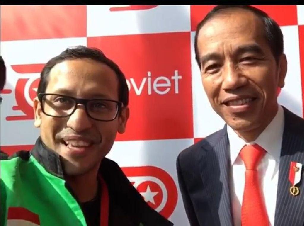 Datang ke Peluncuran Go-Viet, Jokowi Todong Nadiem Makarim