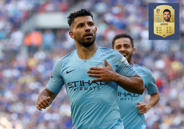 Sergio Aguero tak lagi muda. Tapi ketajamannya di muka gawang sama sekali tak berkurang, bahkan saat Gabriel Jesus datang posisinya di lini depan Manchester City tak terusik. (ist.)