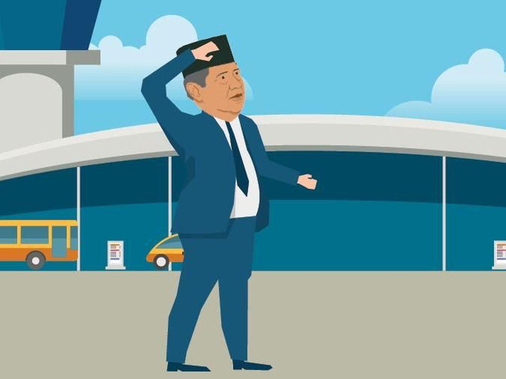Jejak SBY di Bandara Lombok