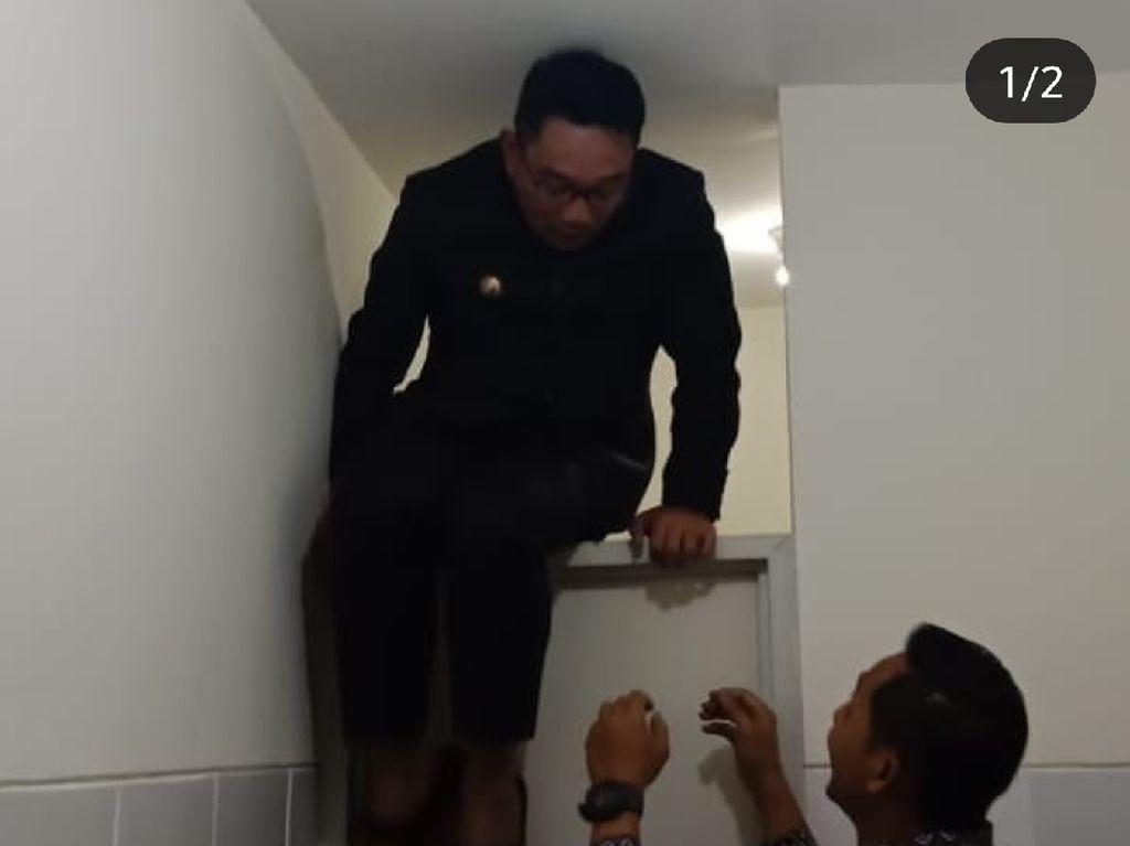 Cerita Ridwan Kamil Terjebak di Toilet yang Pintunya Rusak