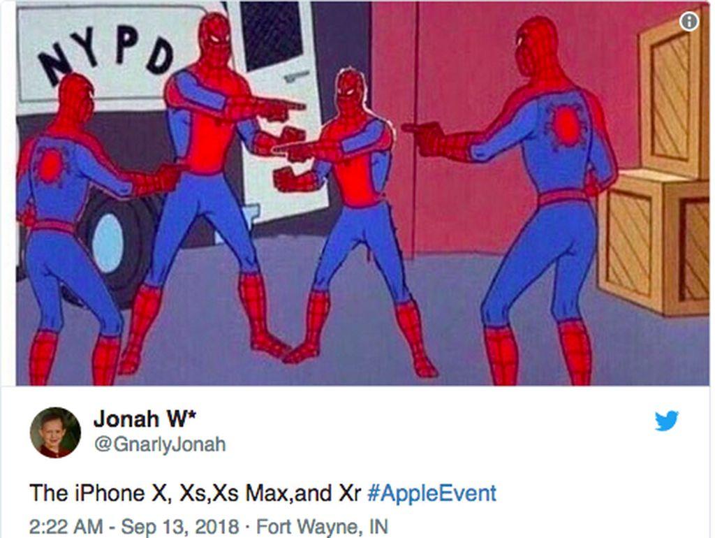 Meme iPhone Baru: Bikin Thanos Bokek, Spiderman Bingung