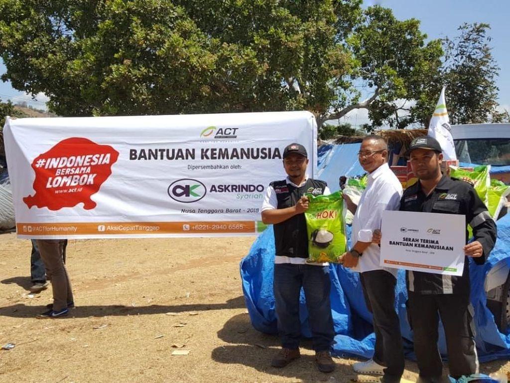 Askrindo Syariah Salurkan Bantuan untuk Korban Gempa Lombok