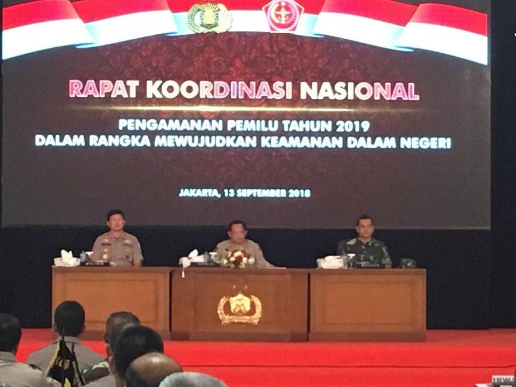 TNI-Polri Rakor Bahas Pengamanan Pemilu 2019