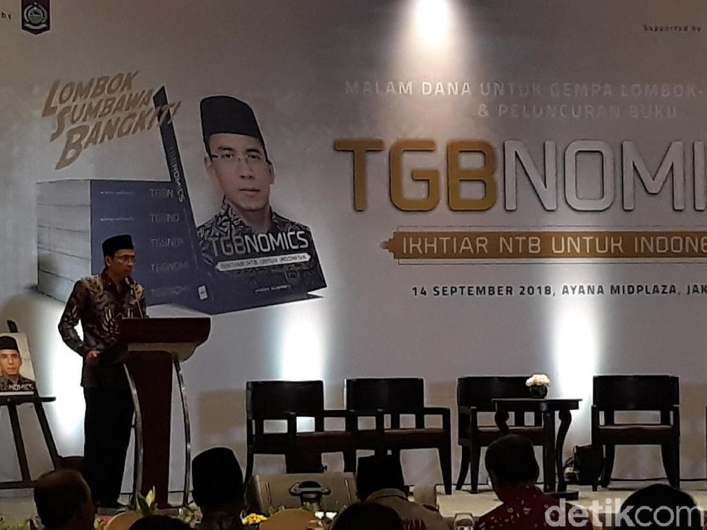 Lewat Buku, TGB Ungkap Rahasia Bangun Ekonomi NTB