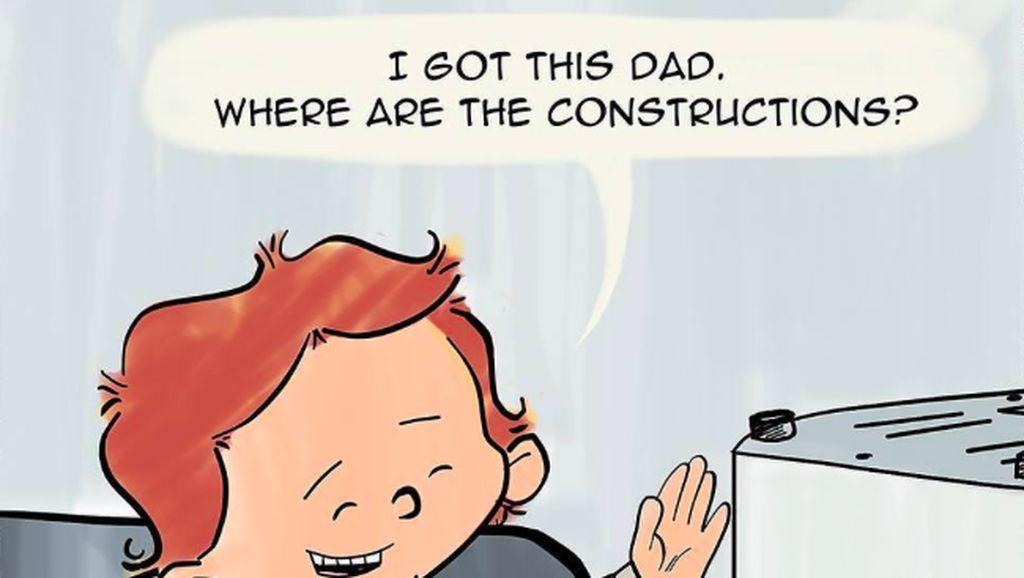 Keseharian Ortu dengan Anak 3 Tahun Dituangkan ke Komik