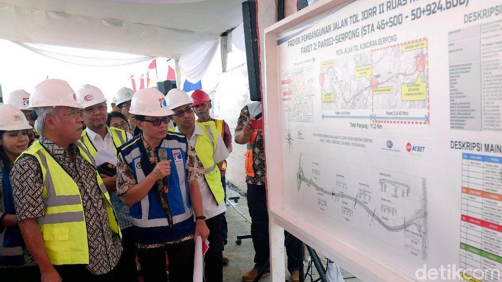 Menteri PUPR Cek Proyek Tol Serpong-Kunciran