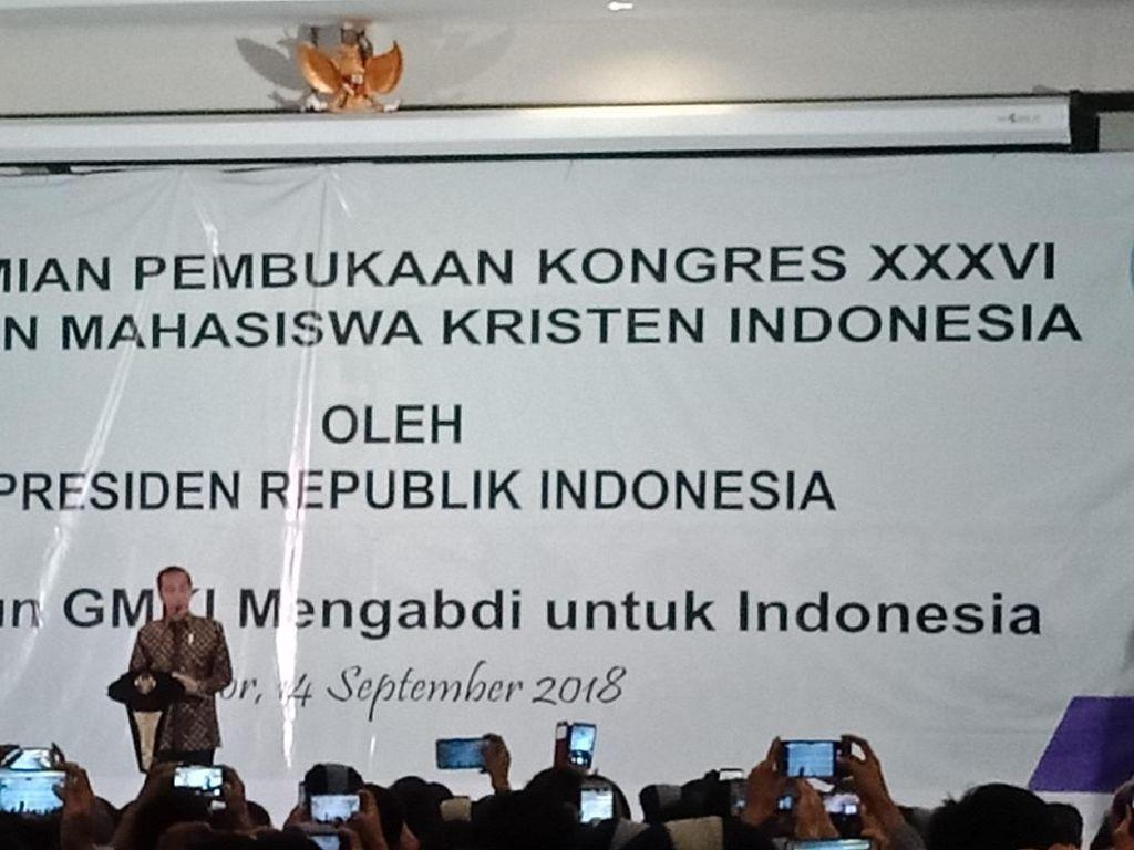 Buka Kongres GMKI, Jokowi Bicara Keberagaman dan Teknologi