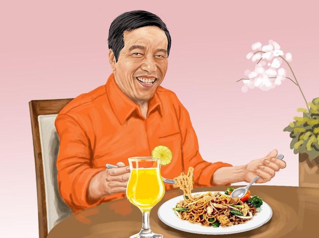 Dalam Bakmi, Soeharto, Jokowi, dan Megawati Bersaudara