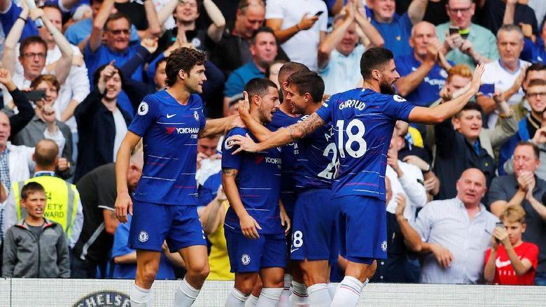 Hasil Liga Inggris: Hazard Hat-trick, Chelsea Bungkam Cardiff 4-1