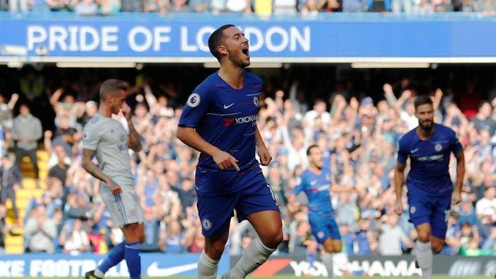 Eden Hazard tengah on fire bersama Chelsea musim ini. (Foto: Eddie Keogh/Reuters)