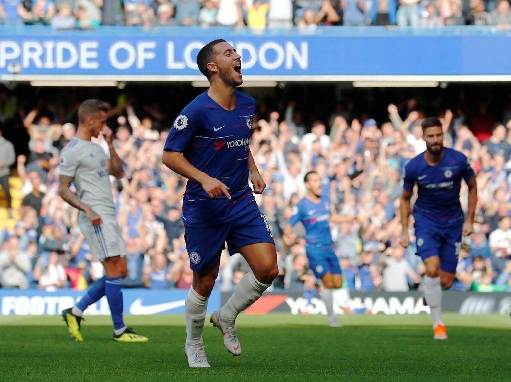 Azpilicueta: Kamu Bisa Seperti Messi dan Ronaldo, Hazard!