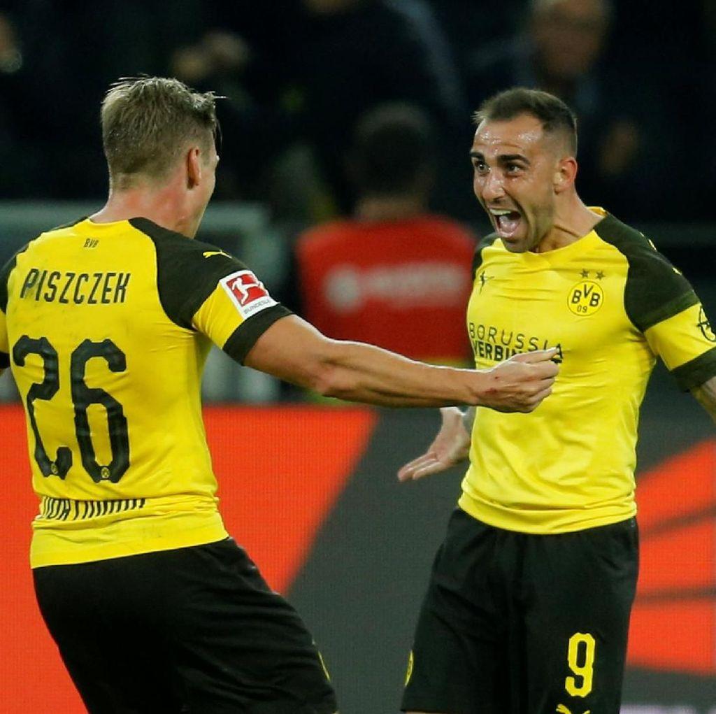 Debut Paco Alcacer di Dortmund: Bikin Gol Lalu Cedera