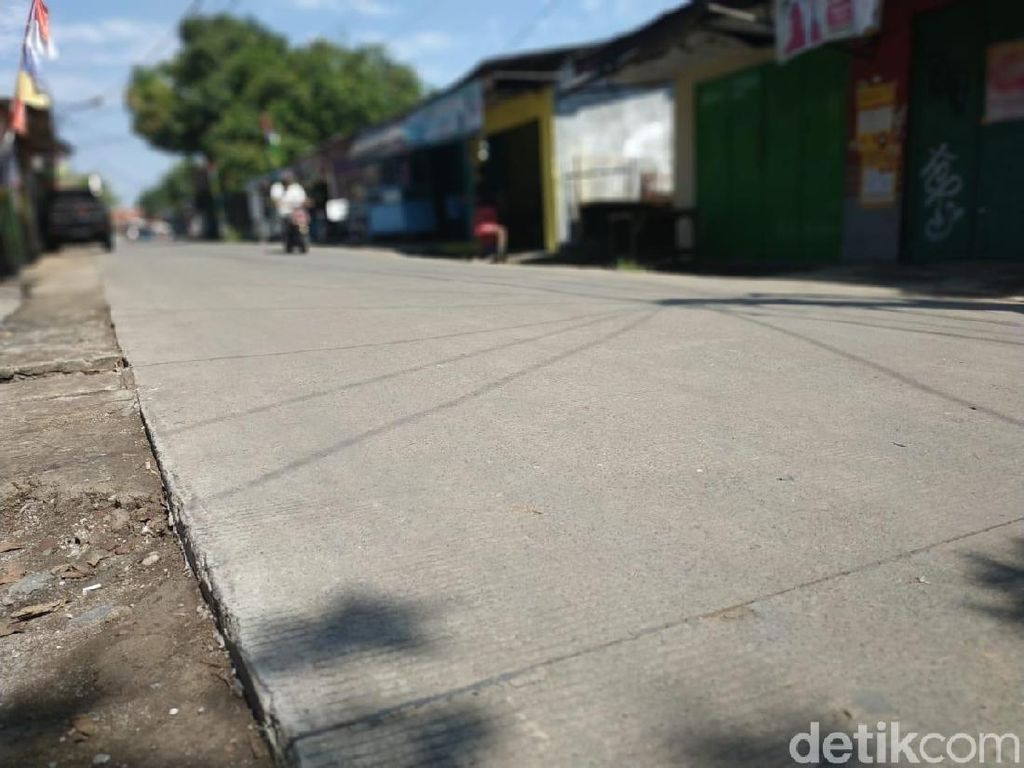Penampakan Jalan Nangka yang Dicurigai Dikorupsi Nur Mahmudi