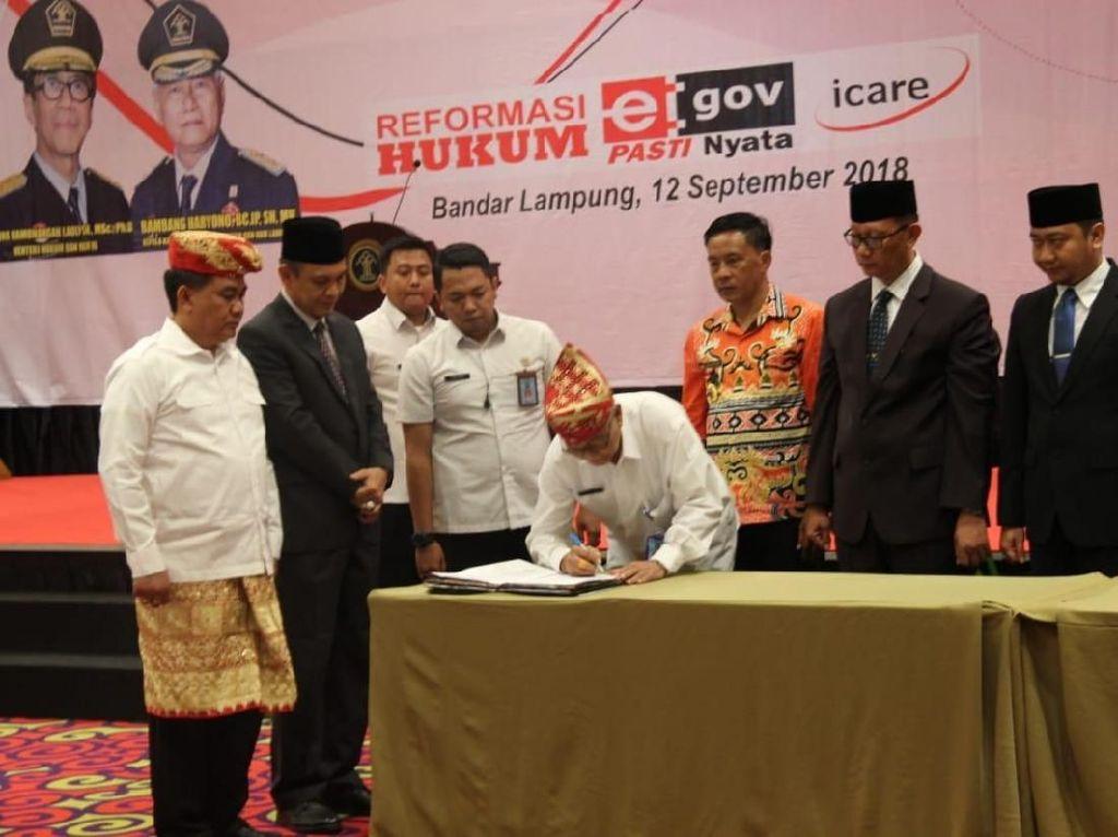 DJKI dan Pemprov Lampung Kerja Sama Lindungi Kekayaan Intelektual