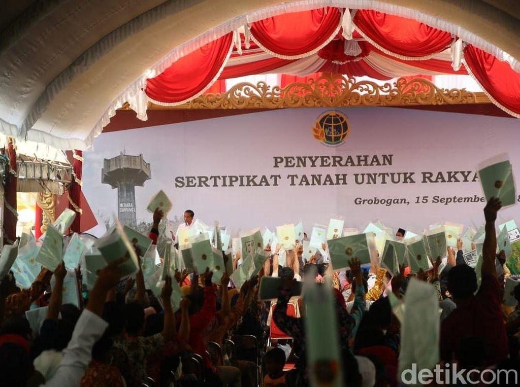 Pesan Jokowi Pada Warga Grobogan Bila Sertifikat Mau Digadai