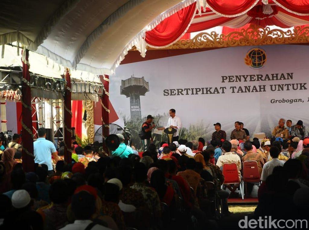 Pesan Jokowi di Tahun Politik Untuk Warga Grobogan