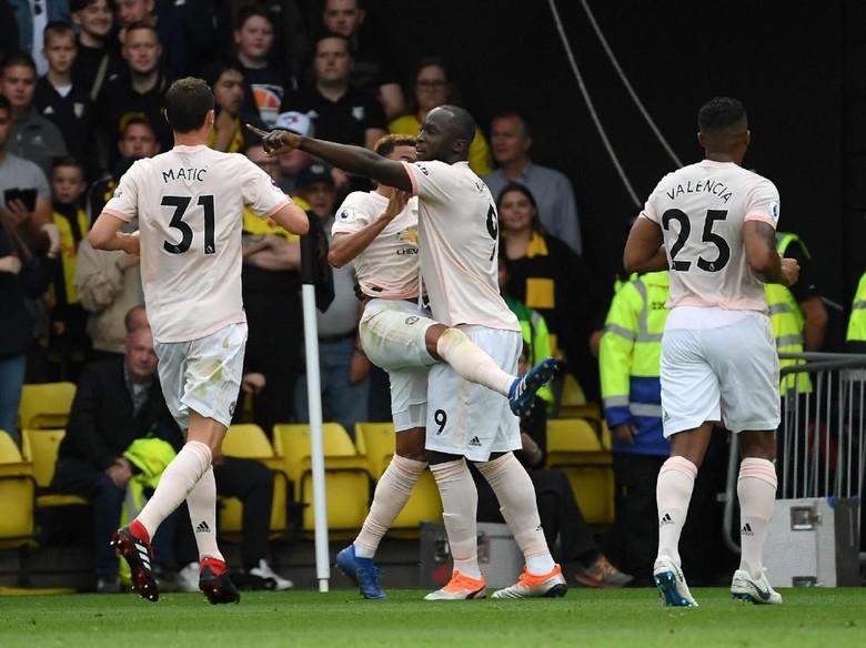 MU Unggul 2-0 atas Watford di Babak I