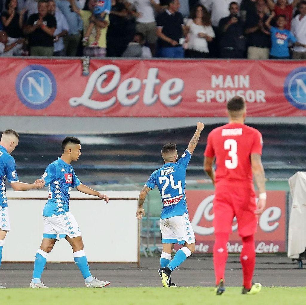 Hasil Liga Italia: Gol Tunggal Insigne Menangkan Napoli atas Fiorentina