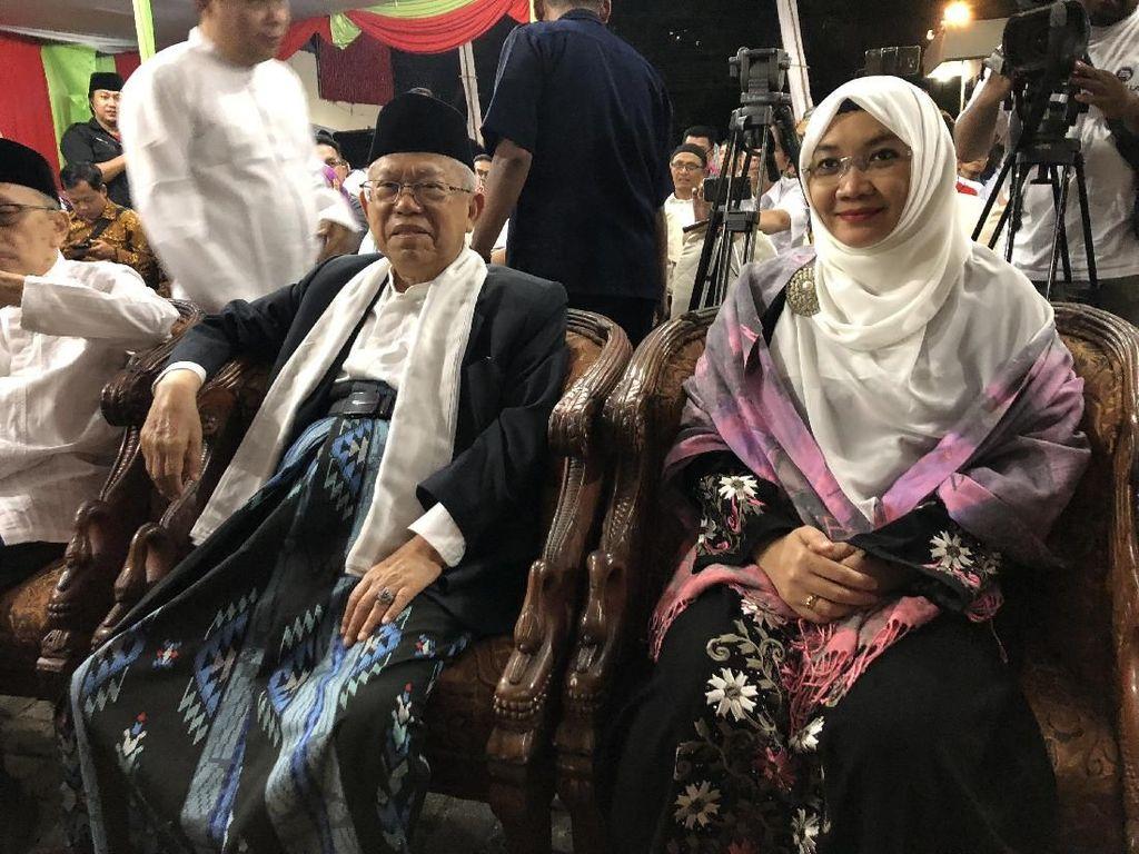 Didampingi Istri, Maruf Amin Resmikan Rumah KMA