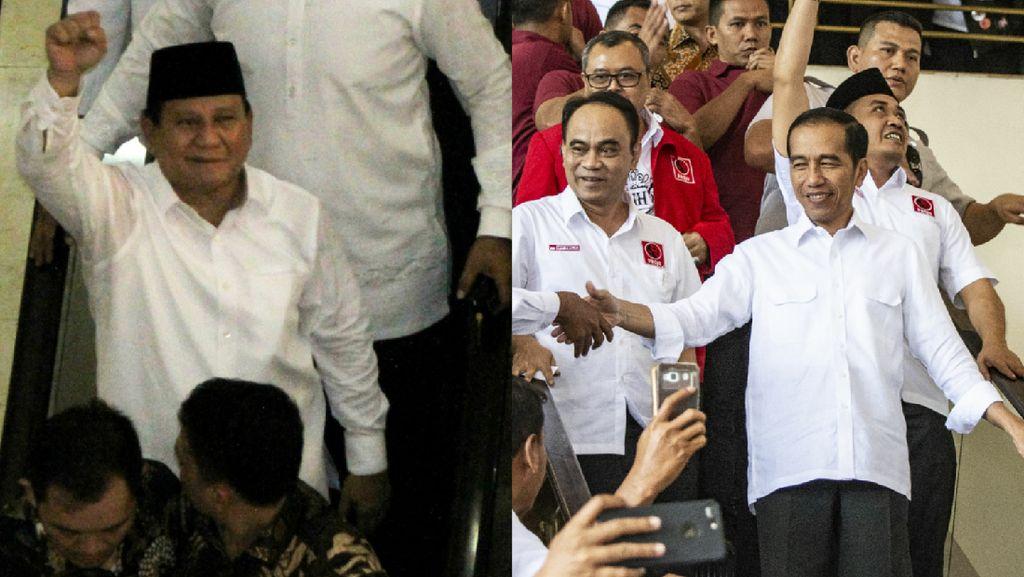 Saat Jokowi Semangati Relawan dan Prabowo Temui Ulama