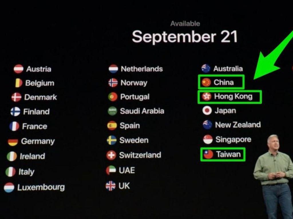 China Marah Apple Salah Sebut Taiwan dan Hong Kong