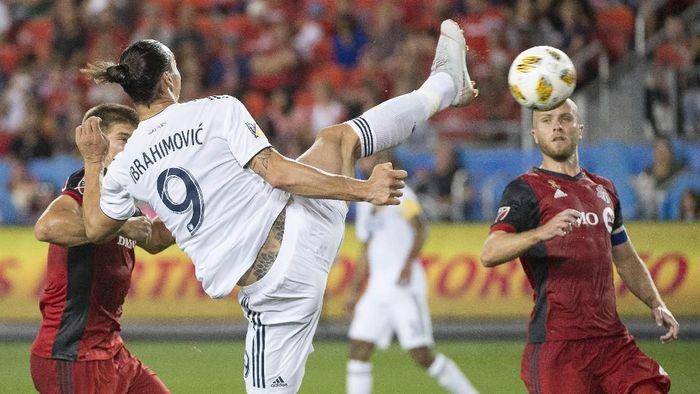 Gol tendangan taekwondo Zlatan Ibrahimovic ke gawang Toronto FC. (Foto: Nick Turchiaro-USA TODAY Sports/REUTERS)