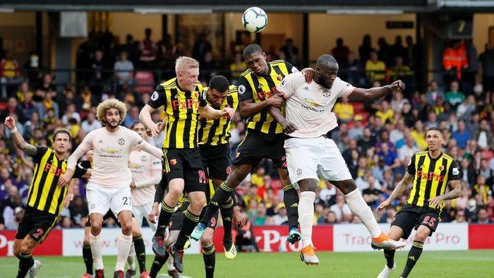 Manchester United saat menaklukkan Watford. (Foto: David Klein/Reuters)