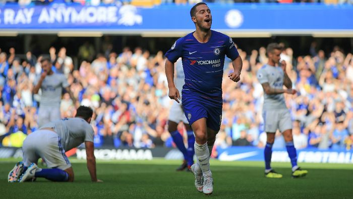 Eden Hazard tampil mengilap di awal musim 2018/2019. (Foto: Marc Atkins/Getty Images)