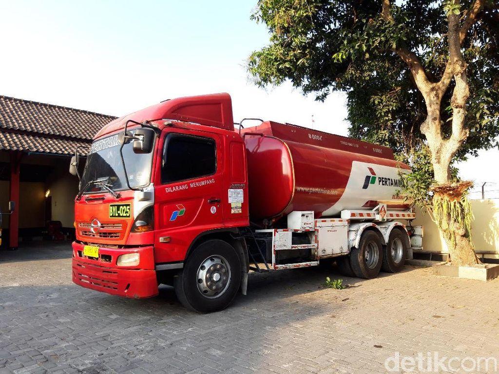 Di Boyolali, Masih Ada Tangki Pertamina Kencing di Jalan