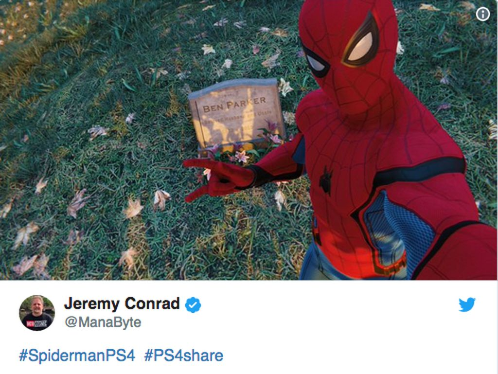 Keren! Ini Aksi Foto dan Selfie Spiderman di Game Anyar