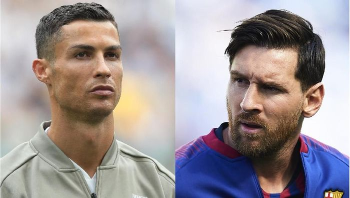 Cristiano Ronaldo dan Lionel Messi. (Foto: Getty Images)