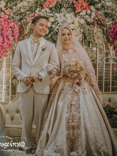 Inspirasi gaun pengantin muslimah.