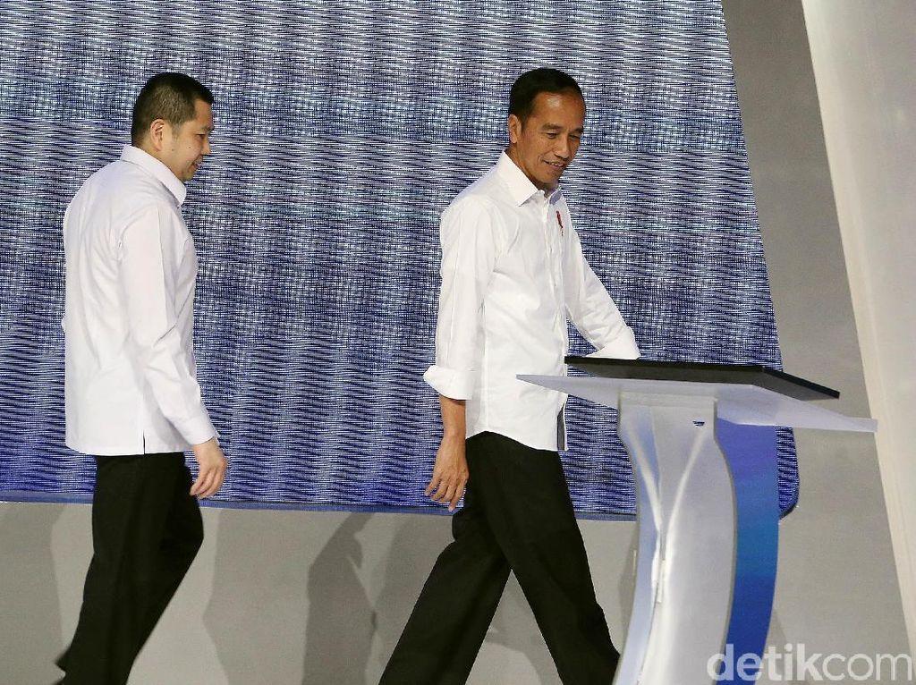 Momen Jokowi Didampingi Hary Tanoe di Pembekalan Caleg Perindo