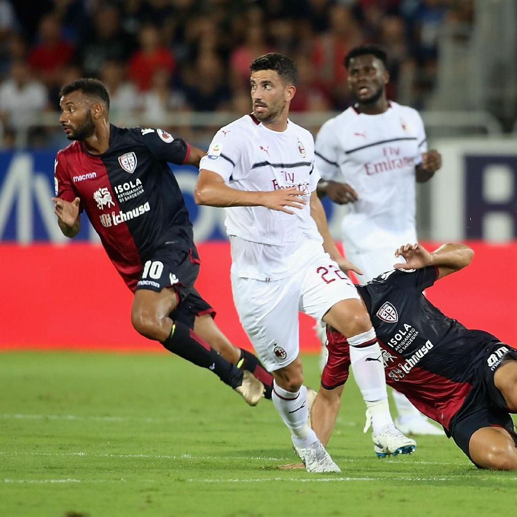 Diimbangi Cagliari, Start Milan Memalukan