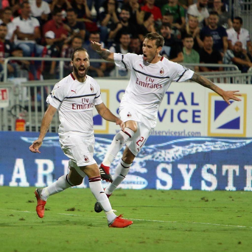 Gol Pertama Gonzalo Higuain yang Menyelamatkan Wajah AC Milan