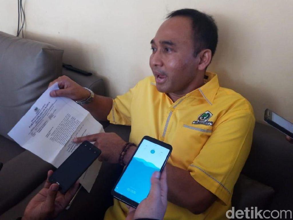 Massa Tuding Ketua DPD Golkar Depok Arogan dan Sunat Dana Saksi