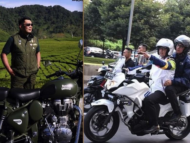 Gaya Motor Anies dan Ridwan Kamil. Foto: Instagram
