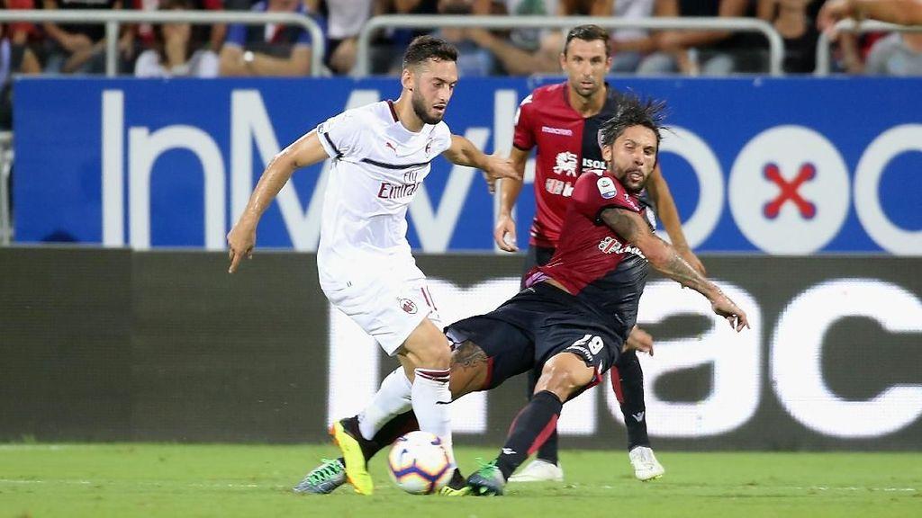 Hasil Liga Italia: AC Milan Diimbangi Cagliari 1-1