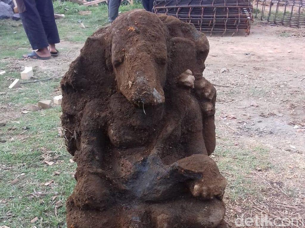 Arca Ganesha Ditemukan di Hulu Sungai Serayu di Kawasan Dieng