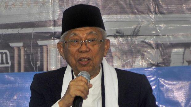 Ketua MUI, Ma'ruf Amin menyebut permohonan fatwa vaksin MR dari Kemenkes terlalu lama.
