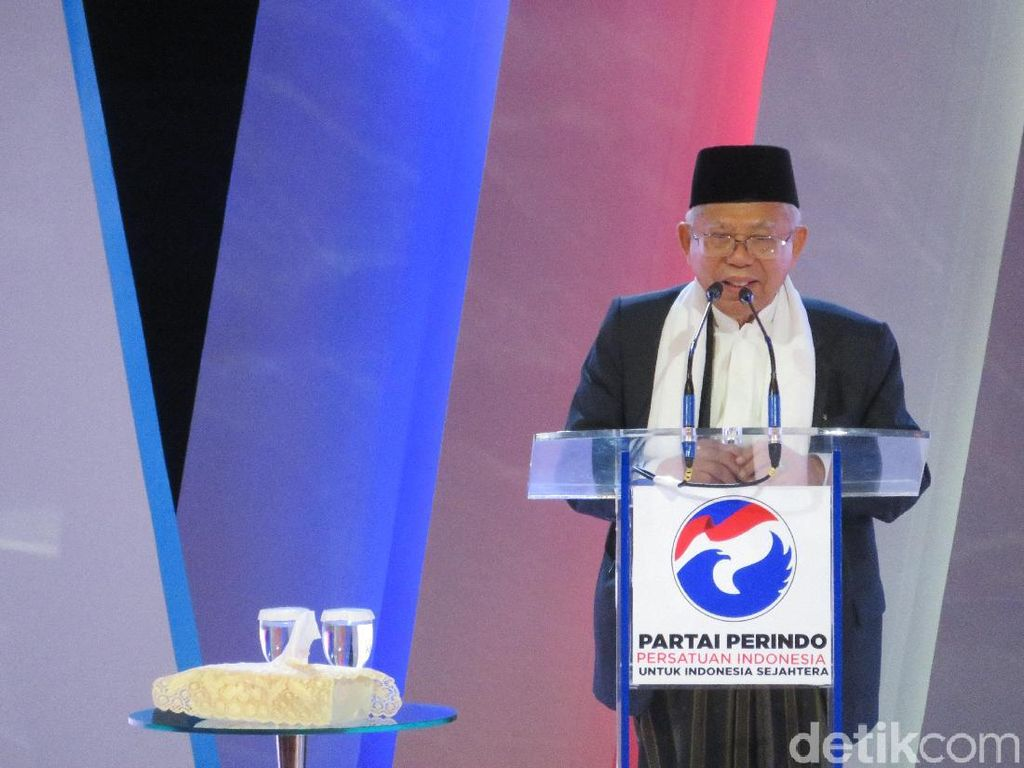 Maruf Amin Hadiri Penutupan Pembekalan Caleg Perindo