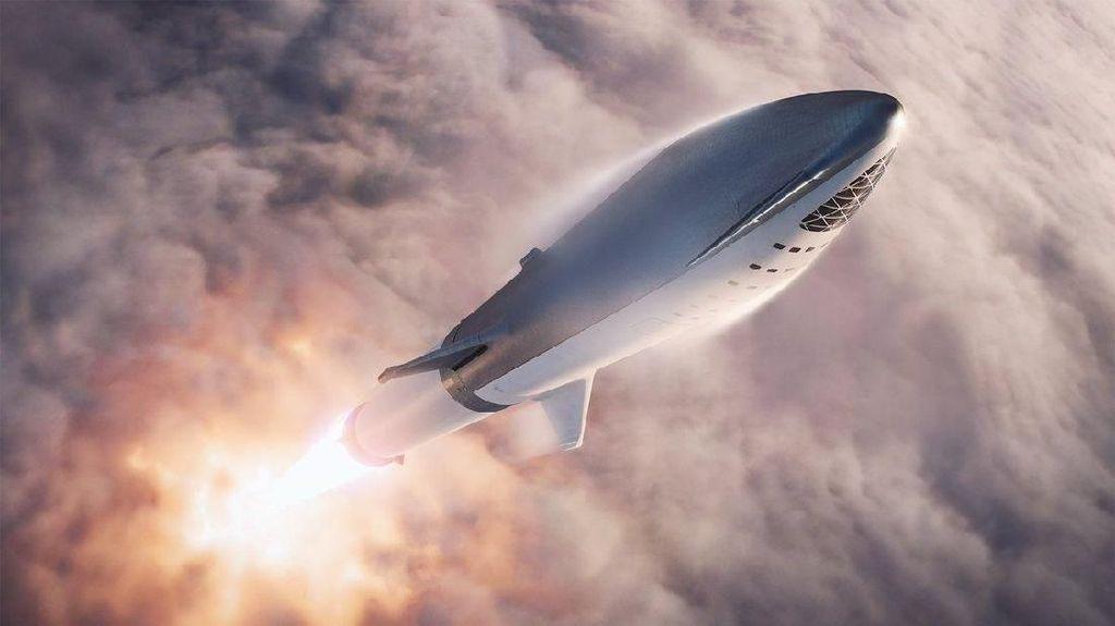 Penampakan BFR, Roket Terkuat SpaceX Buat Jelajah Bulan