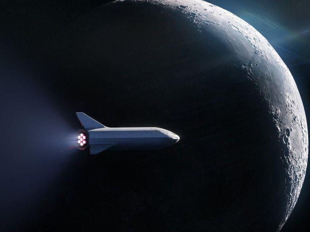 Elon Musk Pamerkan Sosok Roket Starship yang Akan Terbang ke Mars